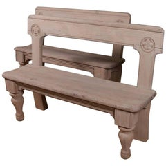 Pair of 19th Century Irish Pine Benches