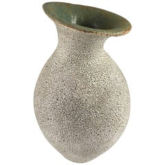 Contemporary Ceramic Curved Neck Vase No. 161 by Yumiko Kuga