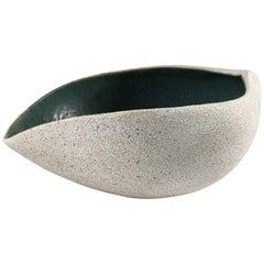 Contemporary Ceramic Boat Shaped Bowl No. 162 by Yumiko Kuga