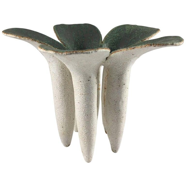 Contemporary Ceramic Five-Petal Vase No. 164 by Yumiko Kuga