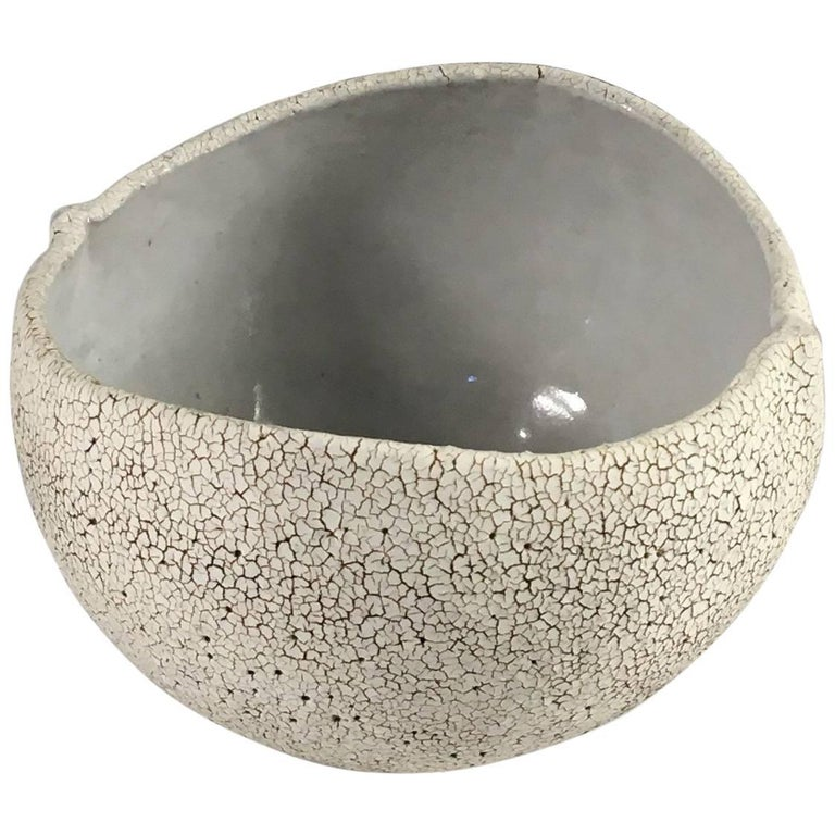 Contemporary Ceramic Round Bowl No. 171 by Yumiko Kuga For Sale