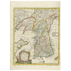 Antique Map of Korea by T. Kitchin, circa 1747