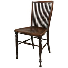19th Century Spindle Back Mahogany Accent Side Chair