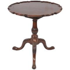 Georgian Period Mahogany Tripod Table, 19th Century