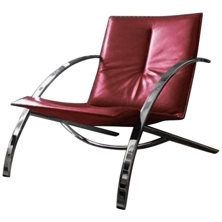 Paul Tuttle Arco Lounge Chair Designed for Strassle of Switzerland, 1970s