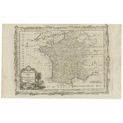 Antique Map of France by T. Bowen, 1785