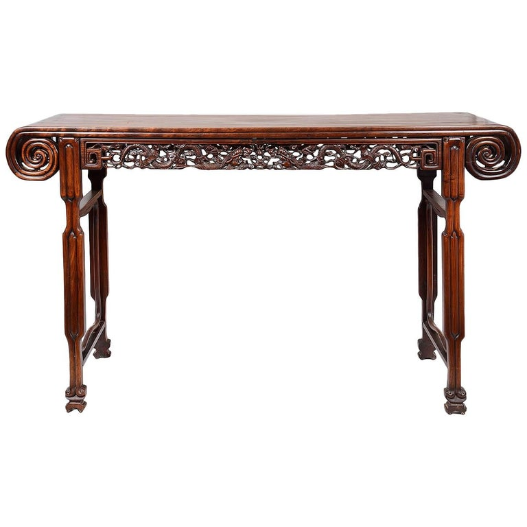 19th Century Chinese Hardwood Alter Table For Sale