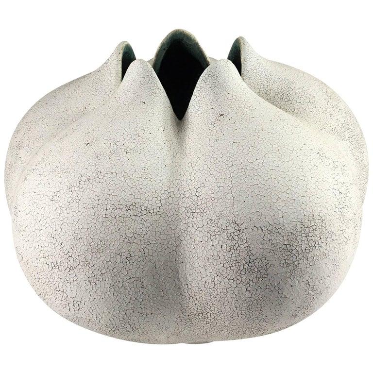 Contemporary Ceramic Blossom Vase No. 178 by Yumiko Kuga For Sale