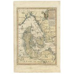 Antique Map of Denmark by E. Bowen, 1747