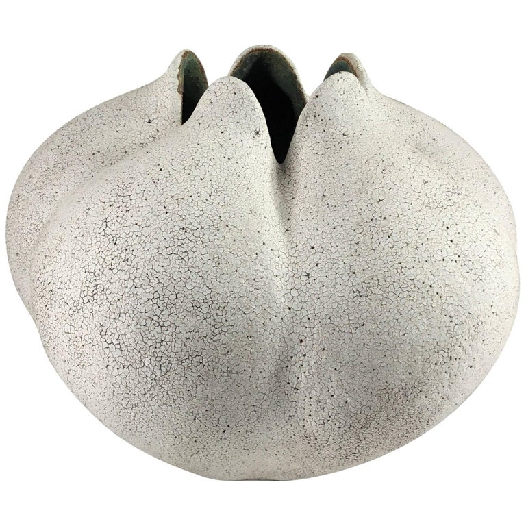 Contemporary Ceramic Blossom Vase No. 179 by Yumiko Kuga For Sale