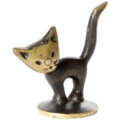 Brass Kitten Cat Walter Bosse Blackened Brass with Hertha Baller, Vienna