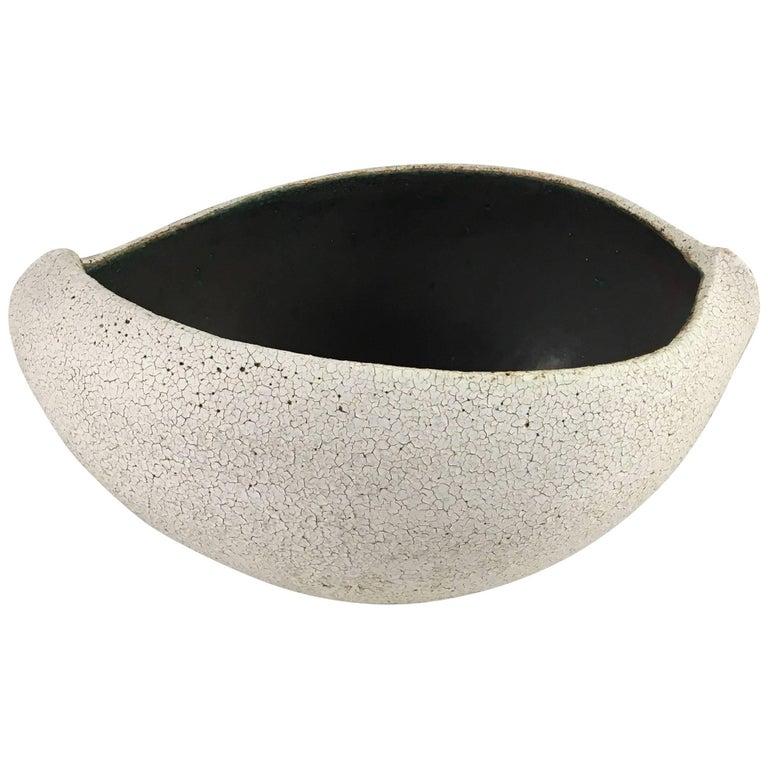 Contemporary Ceramic Boat Shaped Bowl No. 182 by Yumiko Kuga