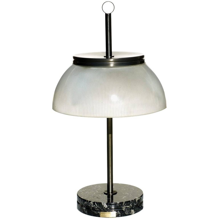 Sergio Mazza by Artemide Marble Glass Italian Design Table Lamp, 1960s