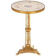 Antique Porcelain and Ormolu Gueridon Table