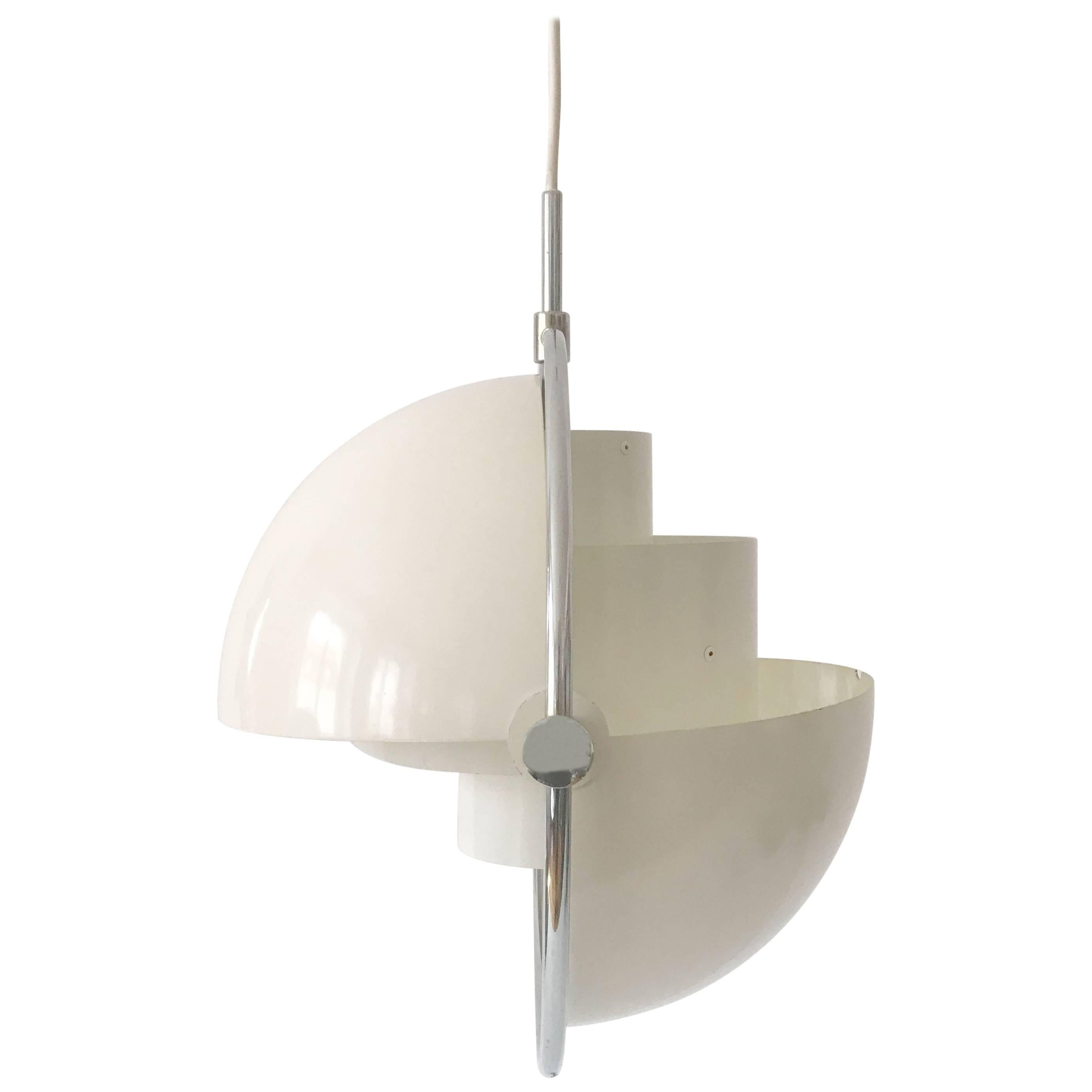 Original Multi-Lite Pendant Lamp by Louis Weisdorf for Lyfa 1974 Denmark