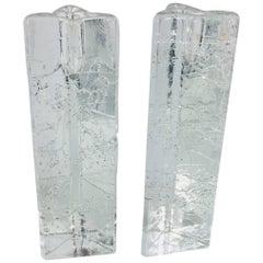 Bubble Glass Candle Sticks