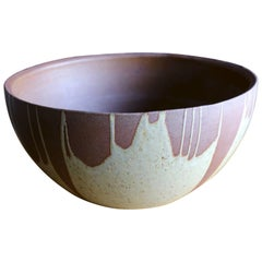 """Large """"Flame Glaze"""" Planter by David Cressey for Architectural Pottery"""