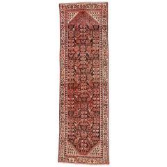Antique Persian Malayer Runner, Wide Hallway Runner with Guli Henna Flower