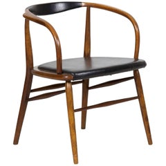 Vintage Mid-Century Modern Boling Chair Co. Bentwood Armchair, circa 1958