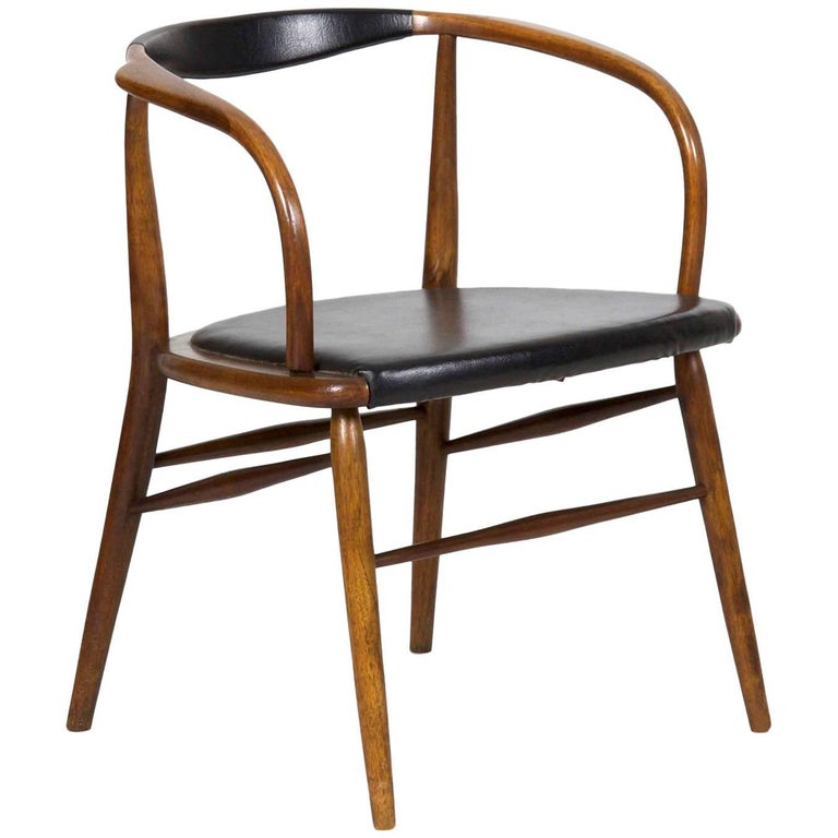 Vintage Mid Century Modern Boling Chair Co Bentwood Armchair Circa 1958 For