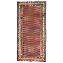 Vintage Persian Malayer Runner with Allover Boteh Design, Wide Hallway Runner