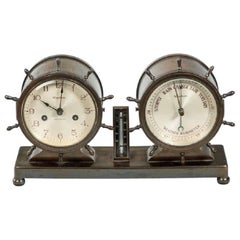Novelty Nautical Clock and Barometer Set by Westbury Clock Co, USA