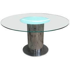Italian Antonia Astori Cidonio Table with Glass Top from 1960s