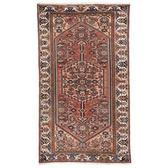 Vintage Persian Hamadan Accent Rug for Entry, Kitchen, Bathroom or Foyer Rug