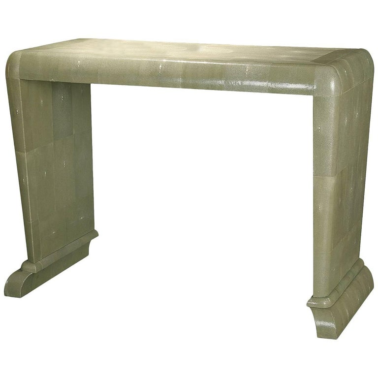 Wooden Console with Shagreen