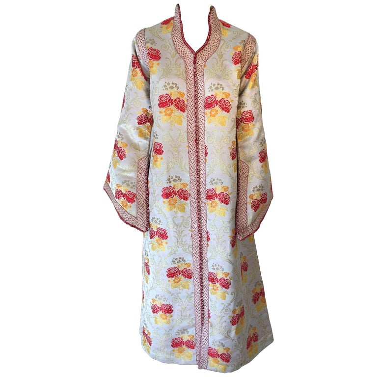 Moroccan Brocade Caftan Maxi Dress Kaftan Handmade in Morocco Africa For Sale