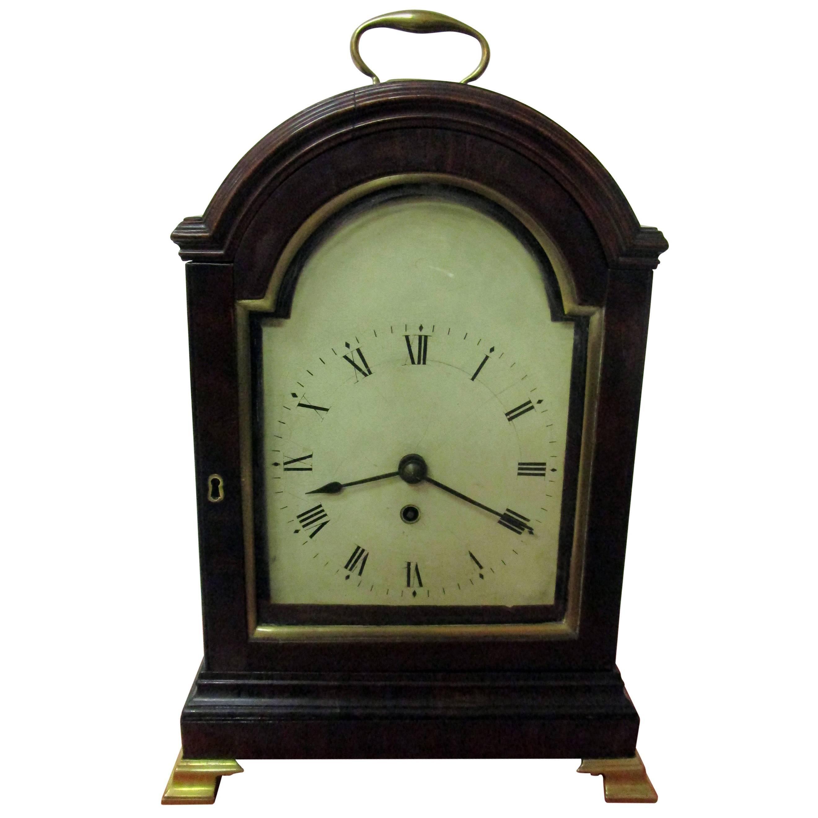 Early 19th century Regency English Mahogany Bracket Clock