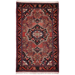 Rustic Style Vintage Persian Hamadan Accent Rug, Kitchen, Foyer or Entry Rug