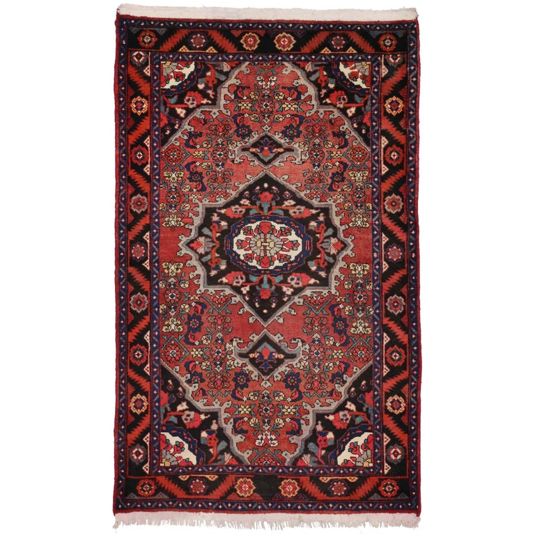 Traditional Foyer Rugs : Vintage hamadan persian rug with traditional style for