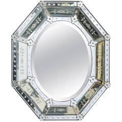 1950s Octagonal Venetian Mirror