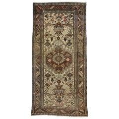 Vintage Persian Bakhtiari Gallery Rug, Wide Hallway Runner