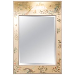LaBarge Chinoiserie Eglomise Mirror