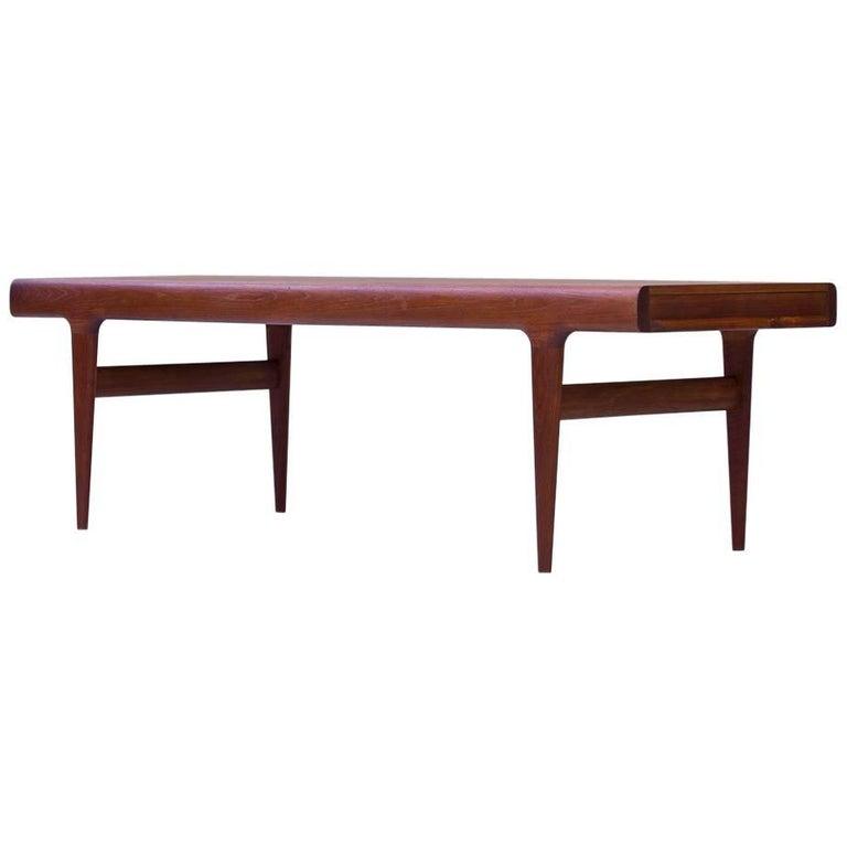 Johannes Andersen Extendable Teak Coffee Table, Denmark, 1960s
