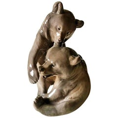 Royal Copenhagen Figurine of Bears Playing #366