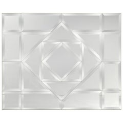 Fabulous Large Faceted Bevelled Mirror