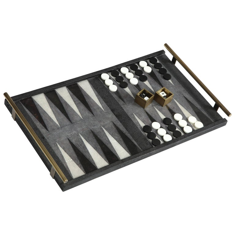 Shagreen Backgammon Game, Offered by Area ID For Sale