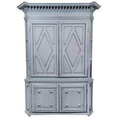 Early, 19th Century French Cabinet in Steel Blue