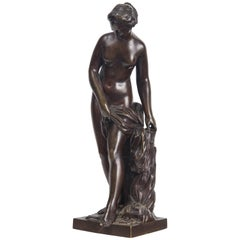 Patinated Bronze Nude of a Goddess