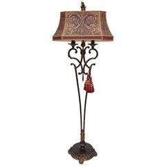 Elegant Wrought Iron Floor Lamp