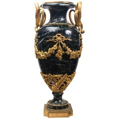 Neoclassic Style Marble Urn with Gilt Bronze Mounts