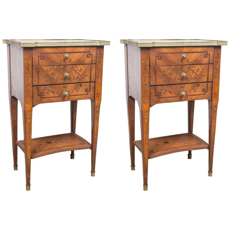 Pair of Louis XVI Period Side Tables