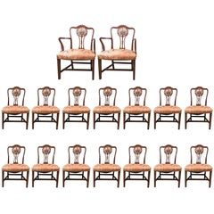 Set of 16 Chippendale Dining Chairs