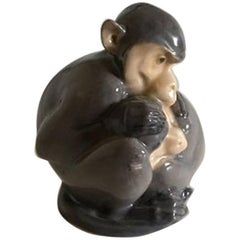 Royal Copenhagen Figurine with Monkeys by Christian Thomsen #415