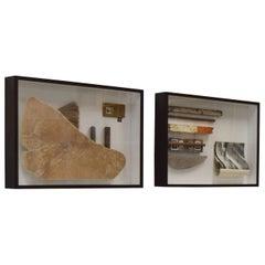 Erosiones VII and Territorios, Diptych Sculptures
