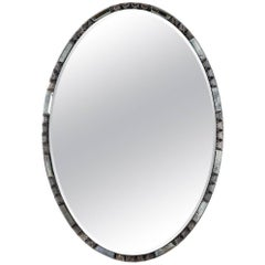 Midcentury Race Track Oval Mirror