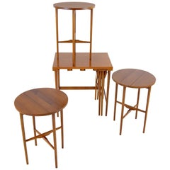 Bertha Schaefer for Singer & Sons Walnut Nesting Table Set